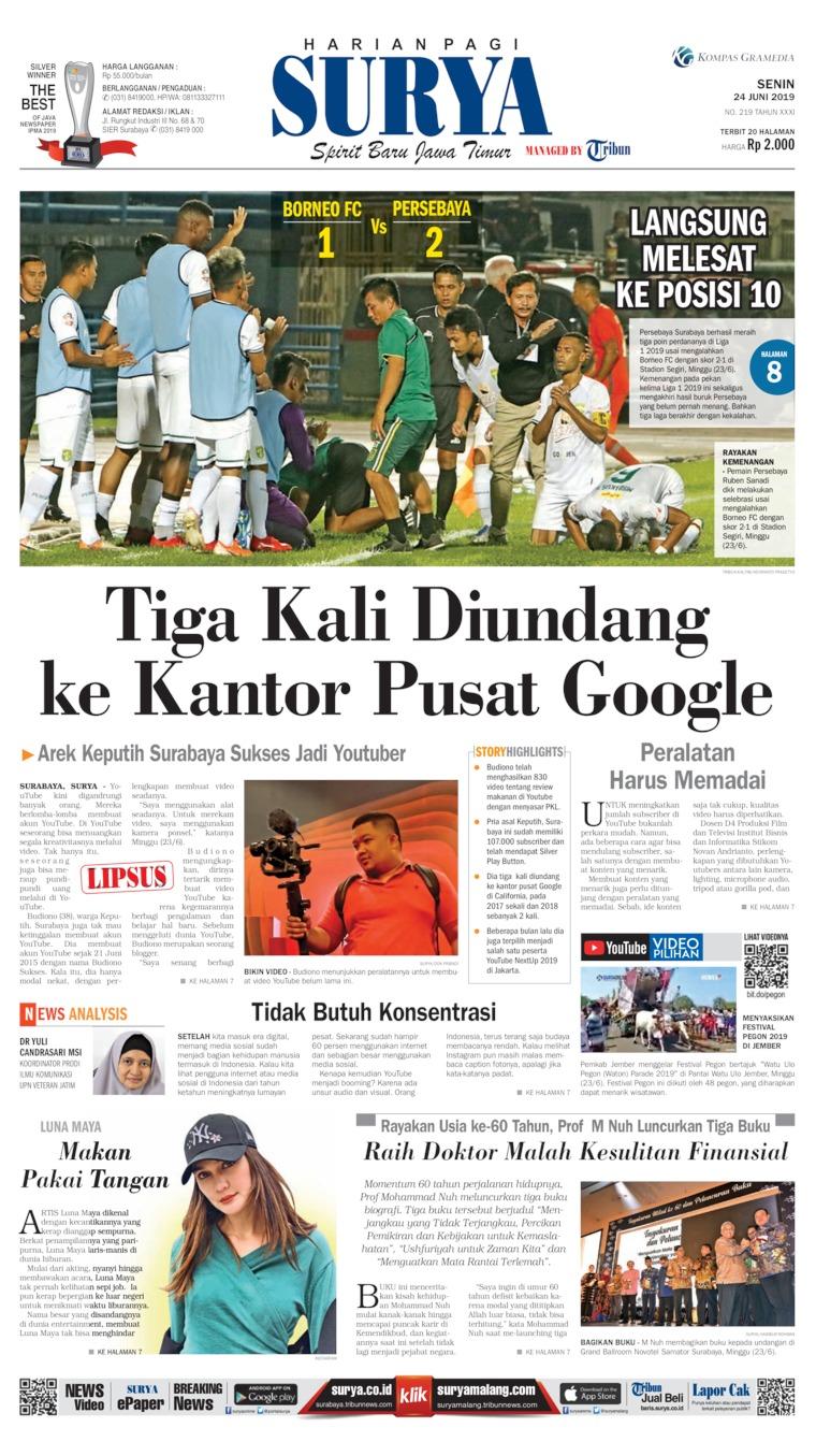 Surya Digital Newspaper 24 June 2019