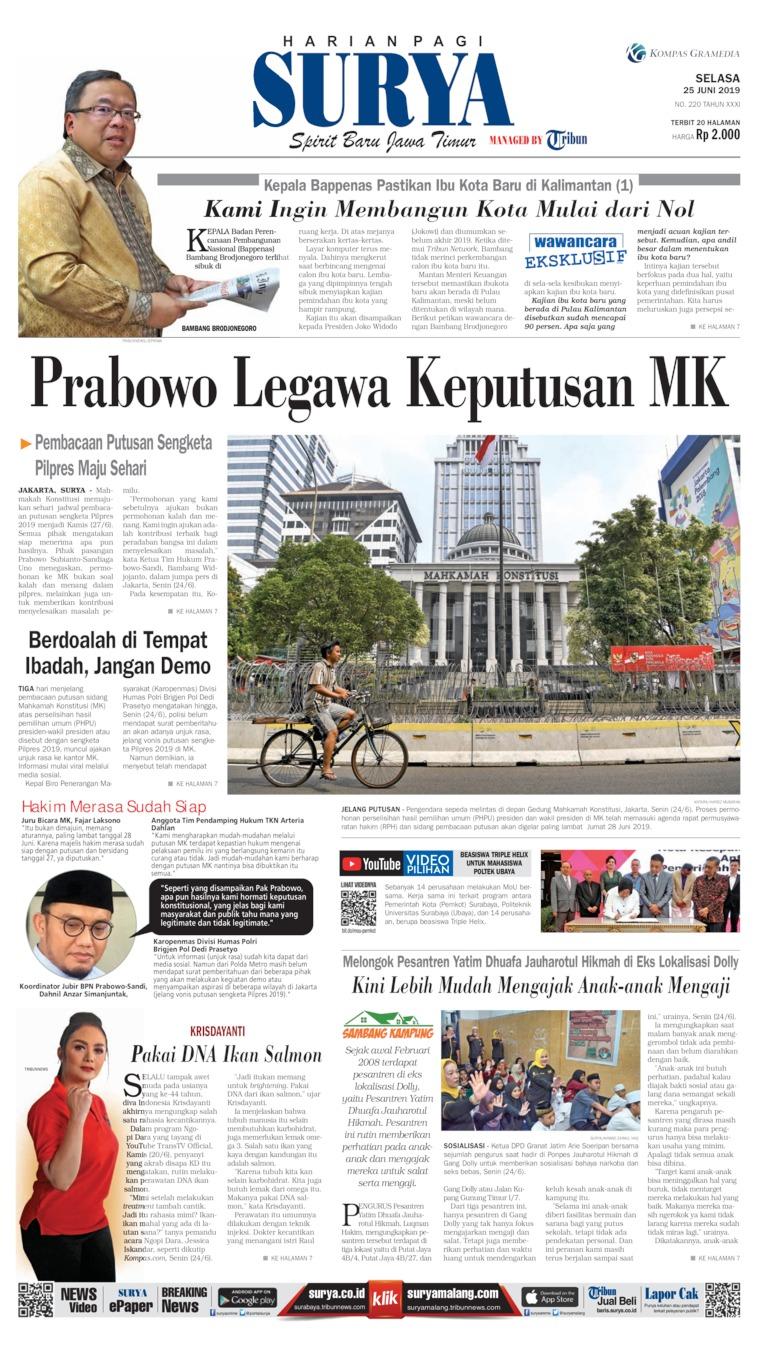Surya Digital Newspaper 25 June 2019