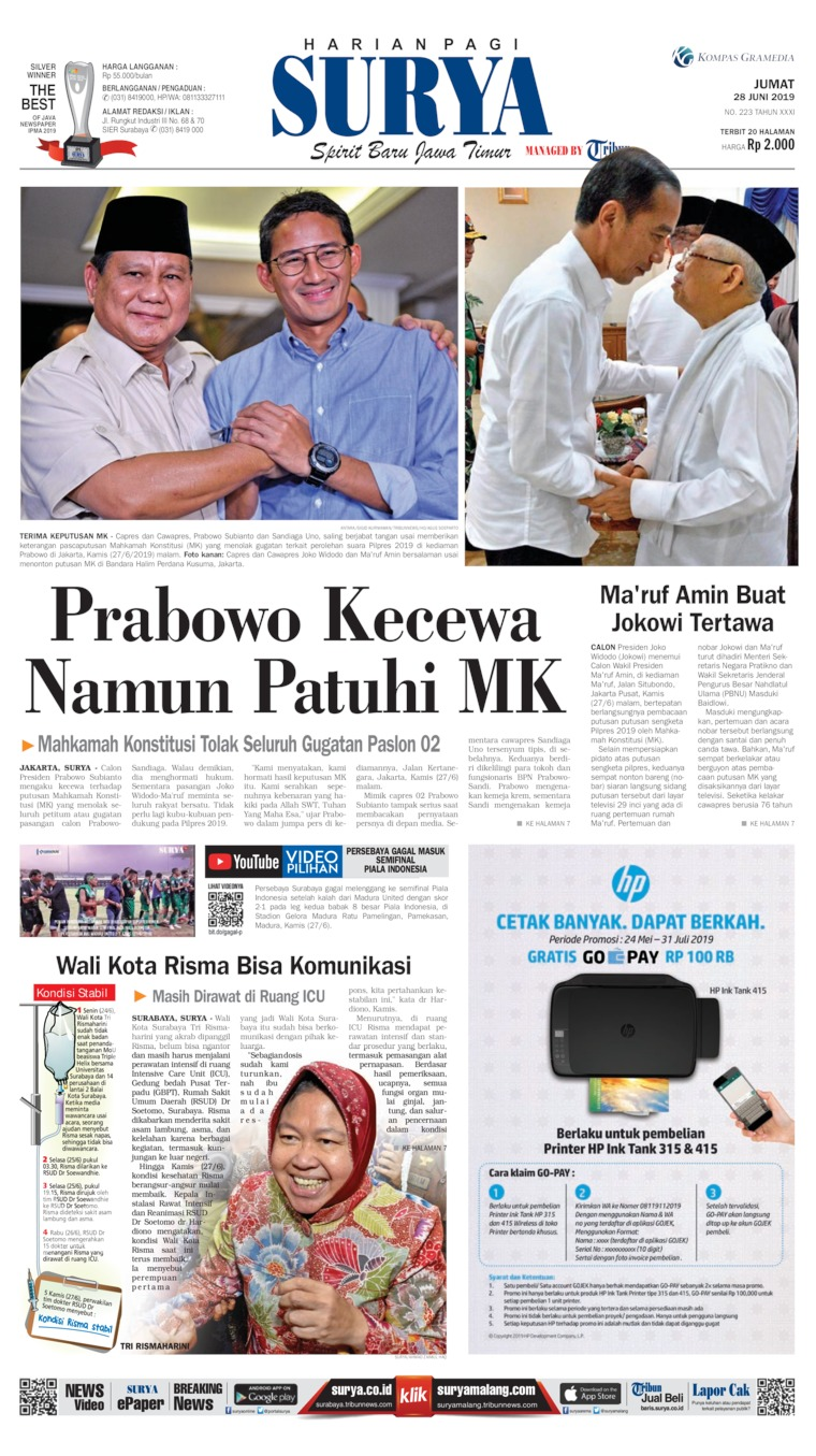 Surya Digital Newspaper 28 June 2019