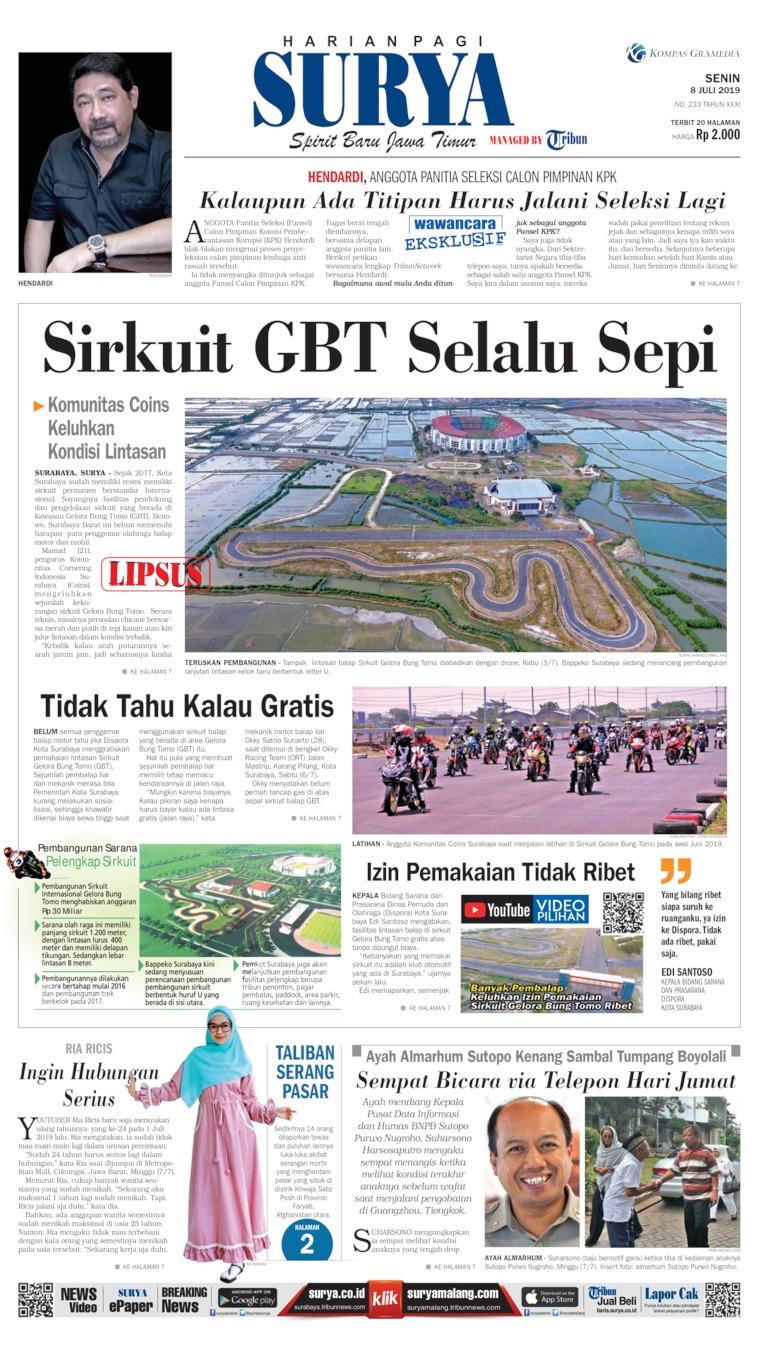 Surya Digital Newspaper 08 July 2019