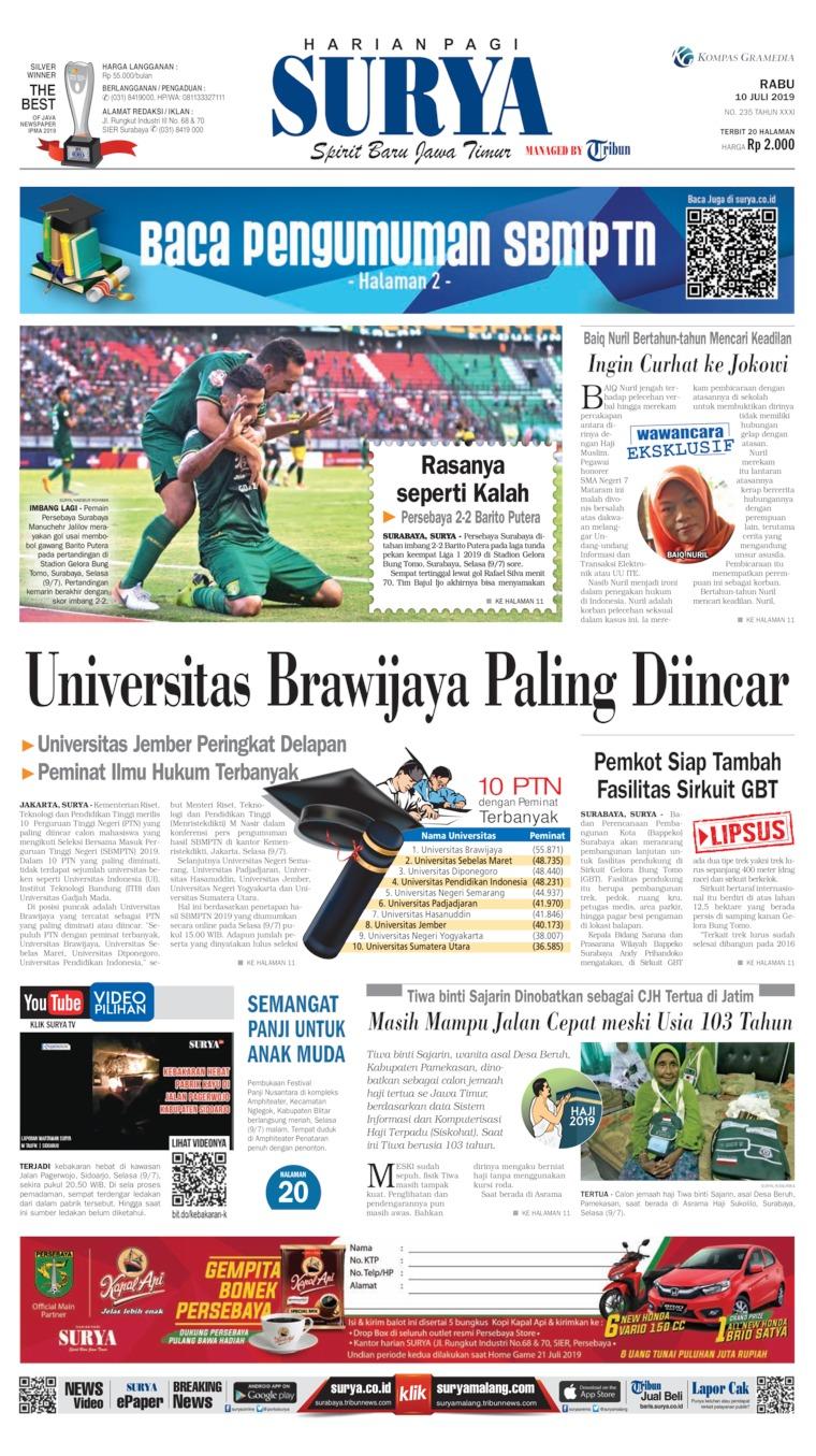 Surya Digital Newspaper 10 July 2019