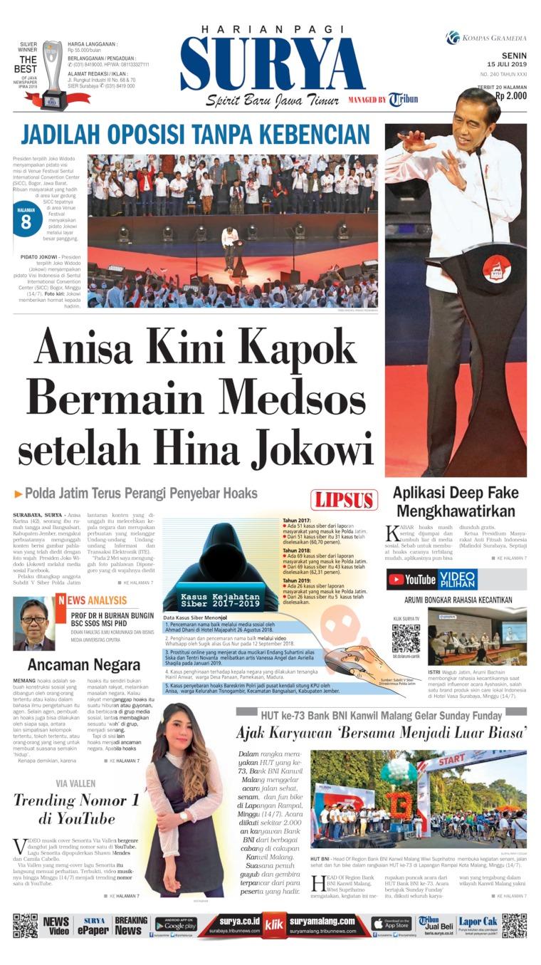 Surya Digital Newspaper 15 July 2019