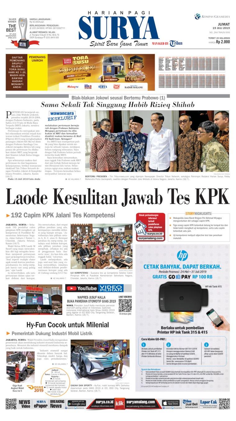 Koran Digital Surya 19 Juli 2019
