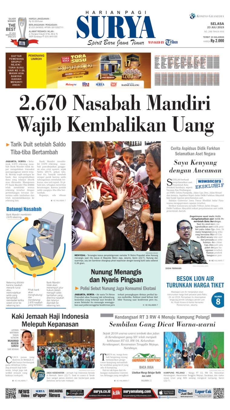 Koran Digital Surya 23 Juli 2019