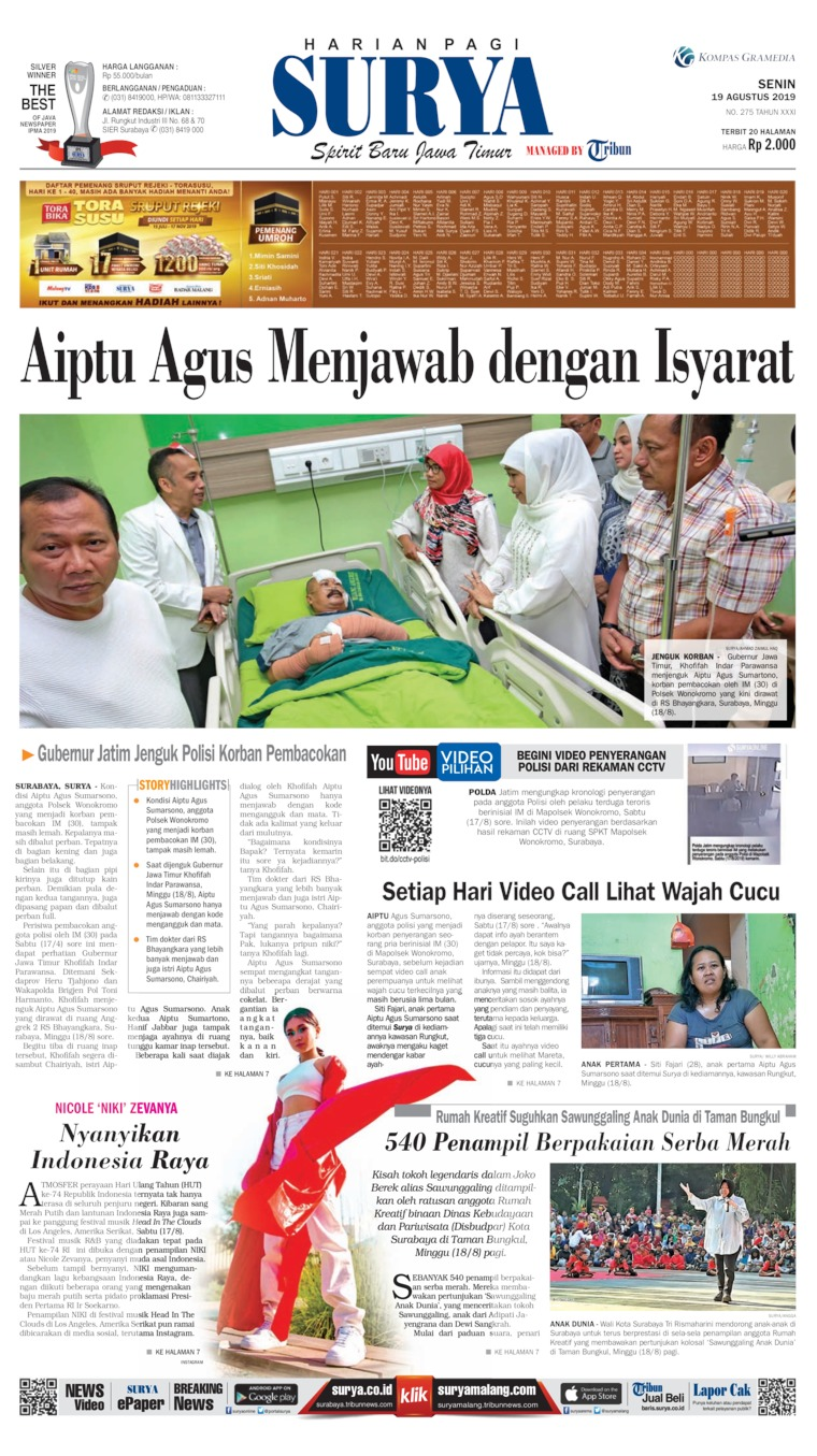 Koran Digital Surya 19 Agustus 2019