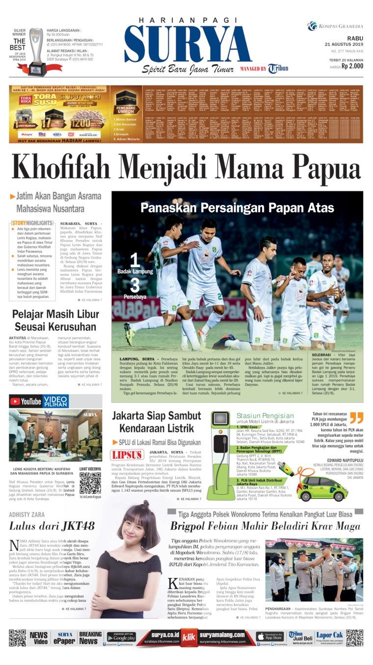Koran Digital Surya 21 Agustus 2019