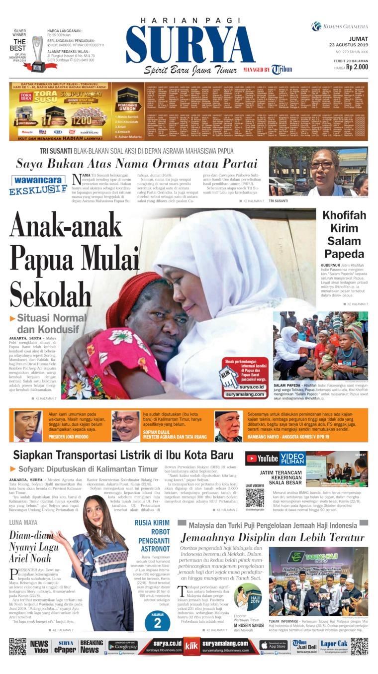 Koran Digital Surya 23 Agustus 2019