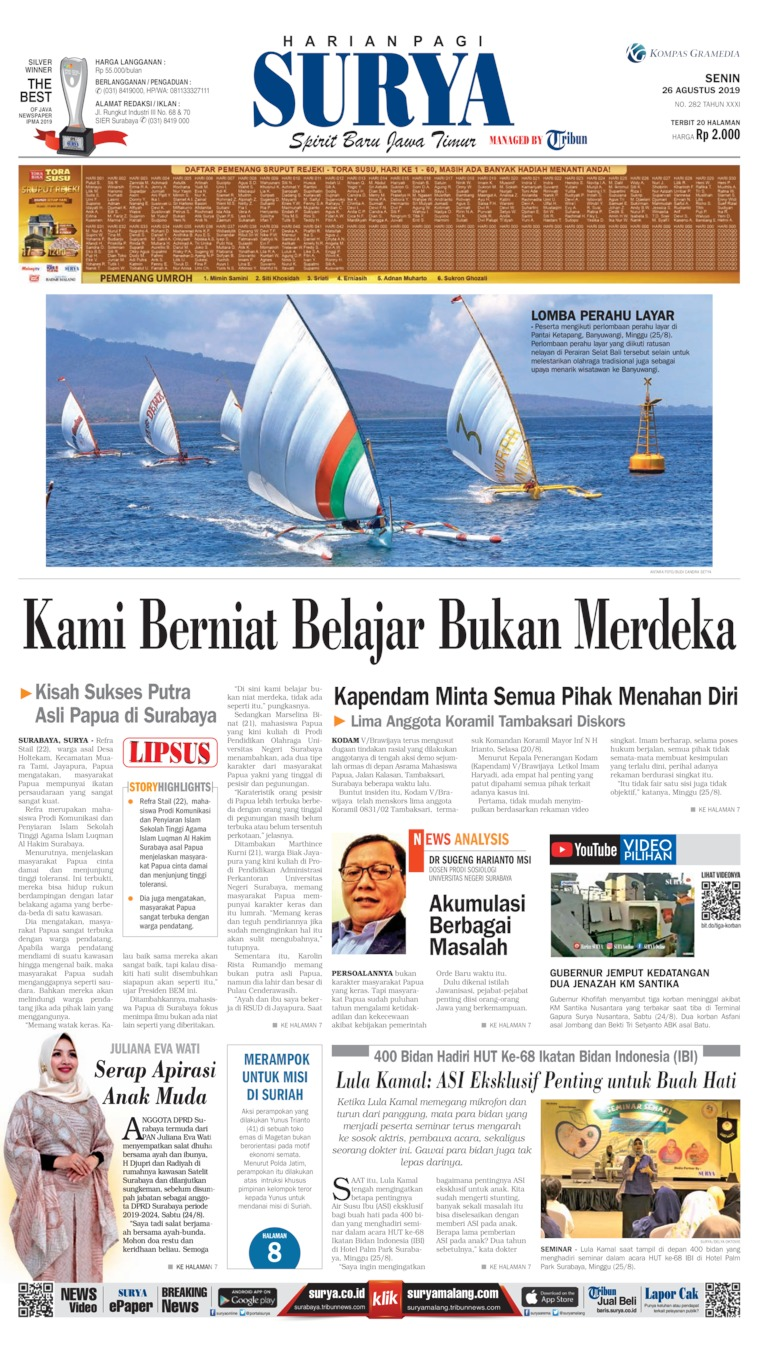 Koran Digital Surya 26 Agustus 2019