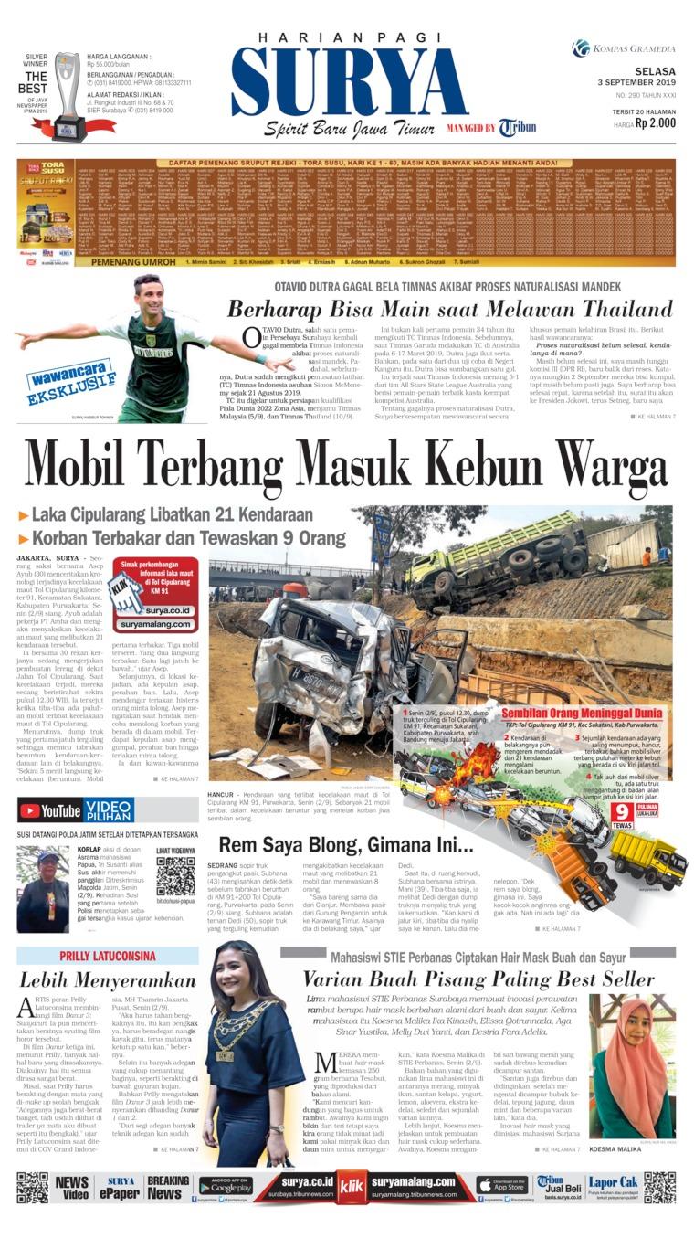 Surya Digital Newspaper 03 September 2019