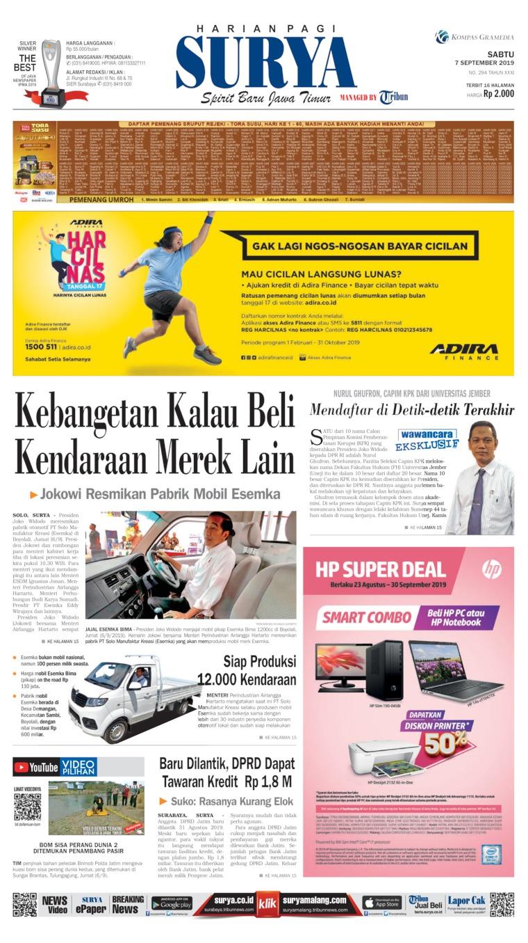 Surya Digital Newspaper 07 September 2019