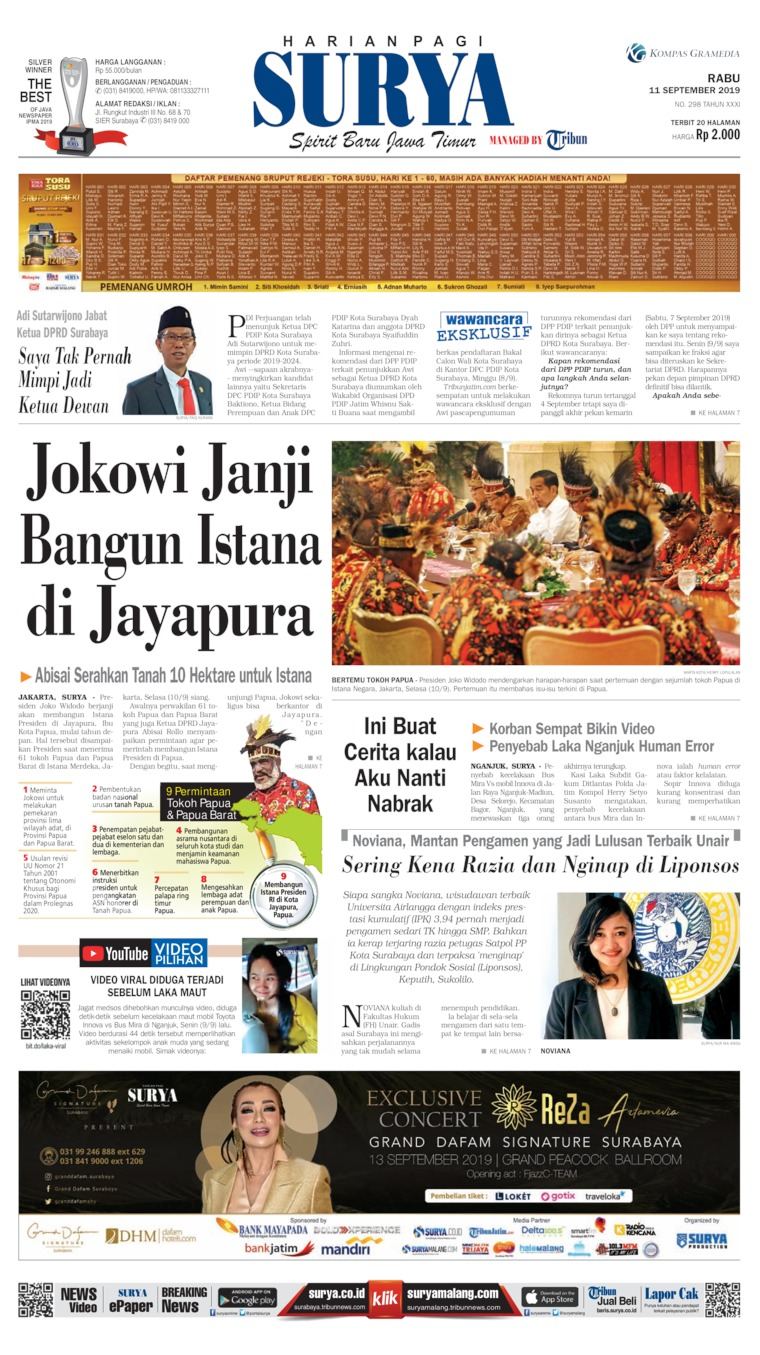 Koran Digital Surya 11 September 2019