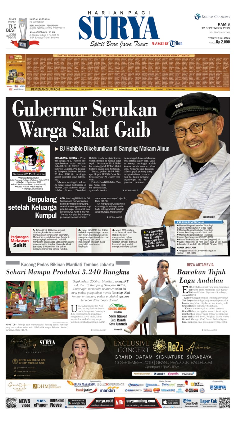 Koran Digital Surya 12 September 2019