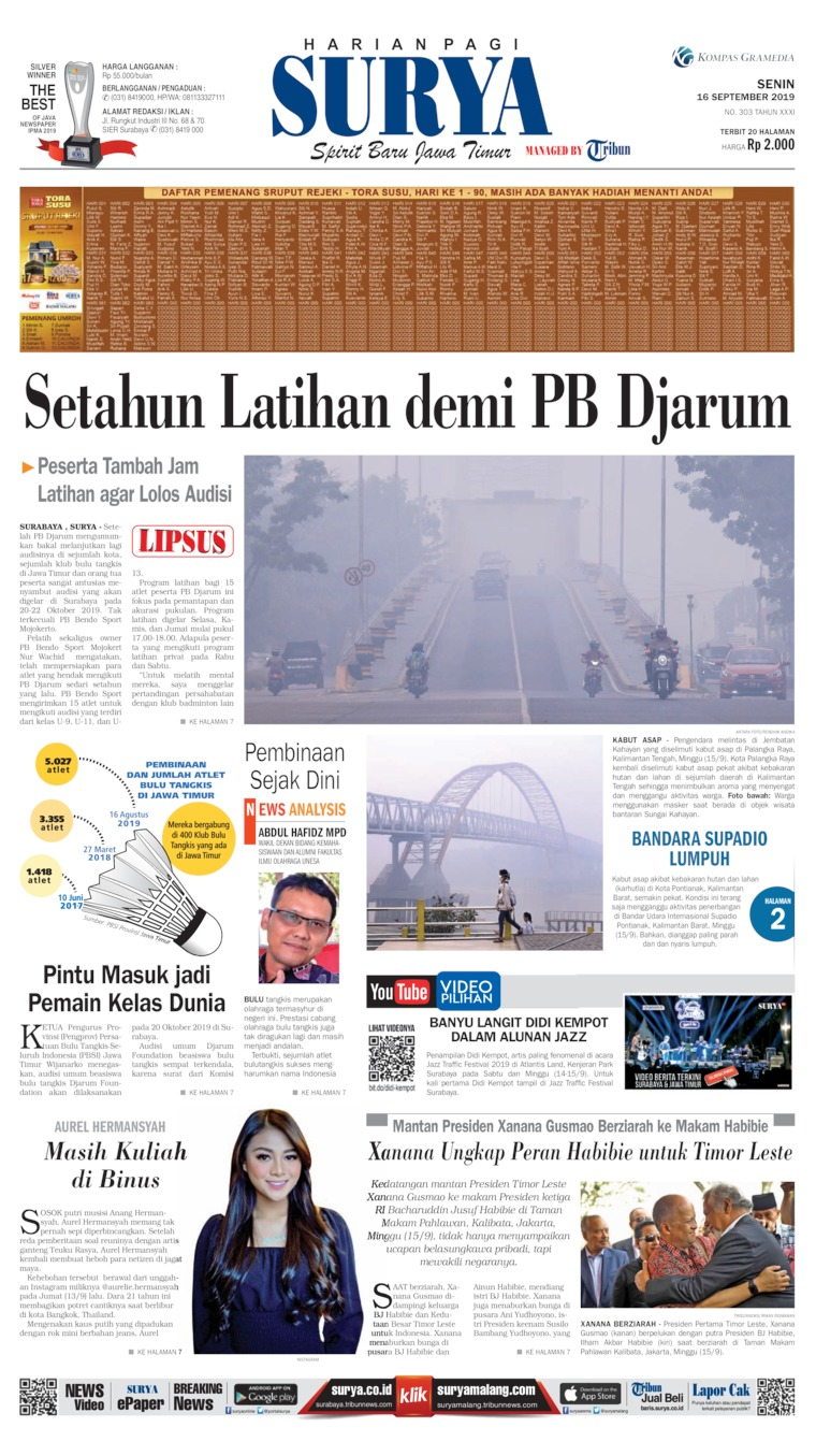 Koran Digital Surya 16 September 2019