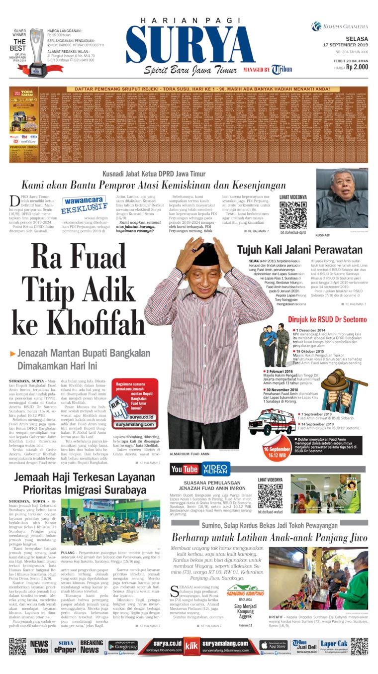 Koran Digital Surya 17 September 2019