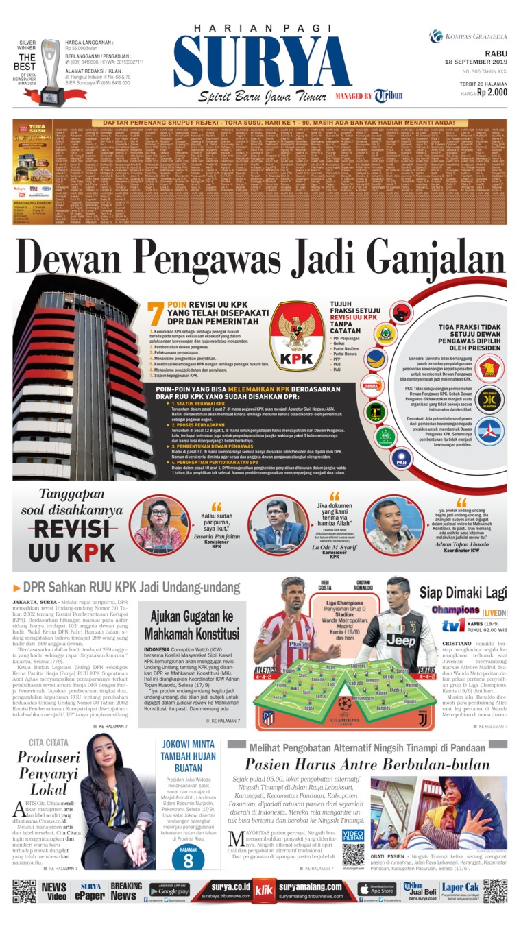 Koran Digital Surya 18 September 2019