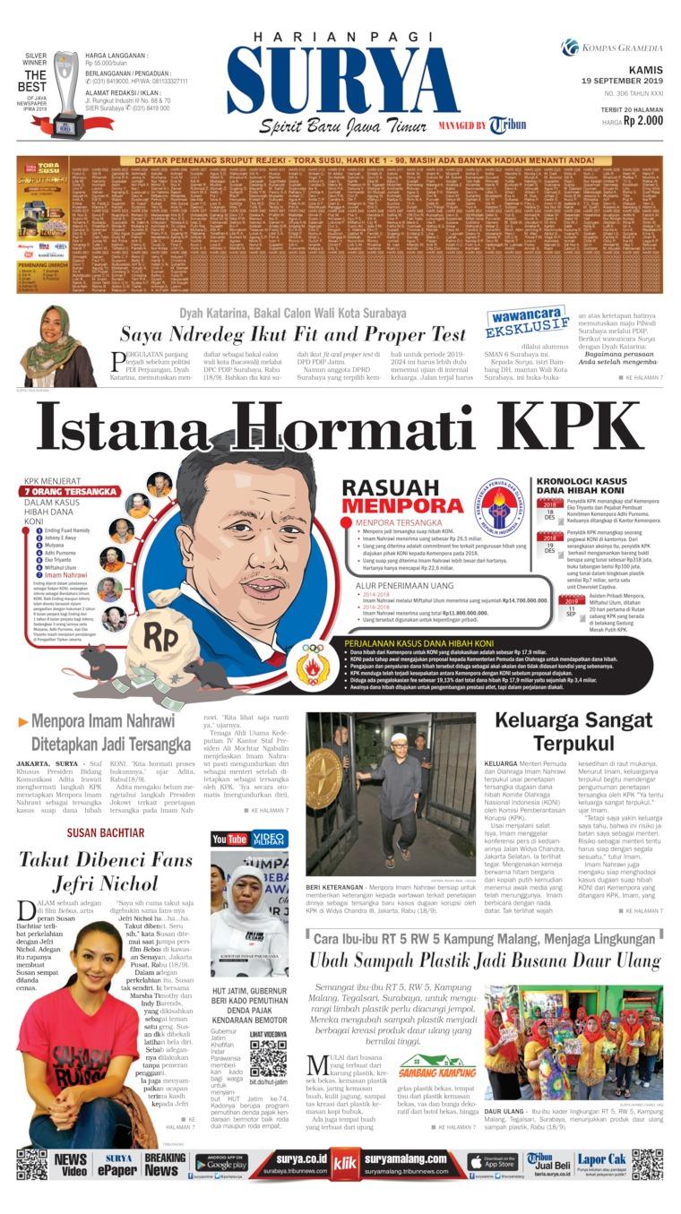 Surya Digital Newspaper 19 September 2019