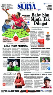 Cover Surya 13 Januari 2019