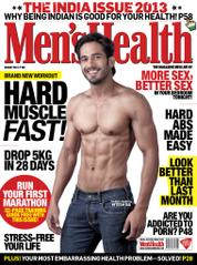 Men's Health India Magazine Cover August 2013