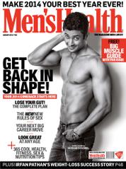 Men's Health India Magazine Cover January 2014