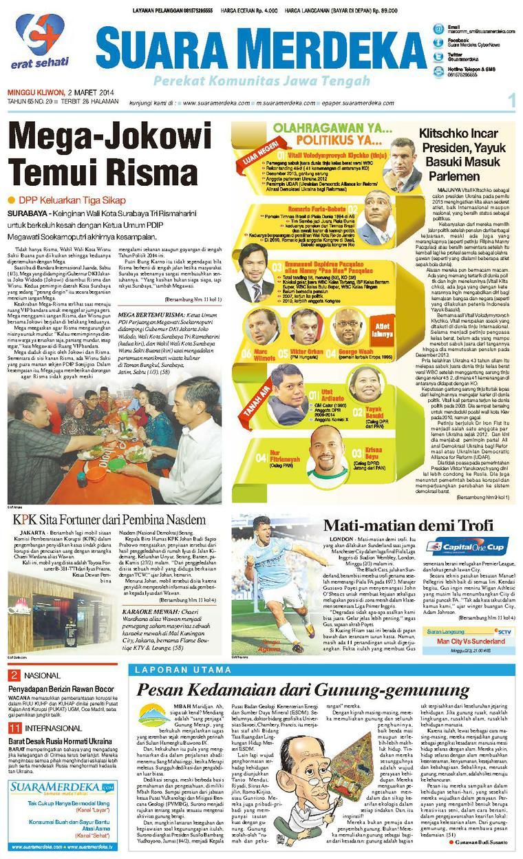 Koran Digital Suara Merdeka 02 Maret 2014