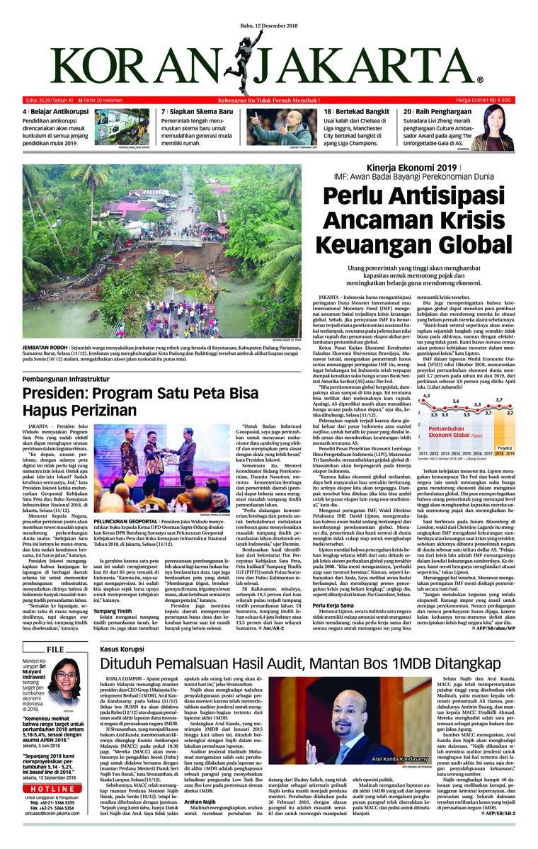Koran Digital Koran Jakarta 12 Desember 2018
