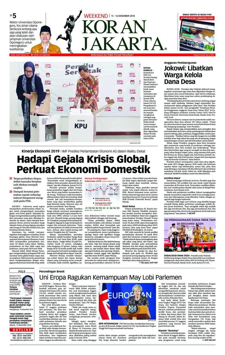 Koran Digital Koran Jakarta 15 Desember 2018