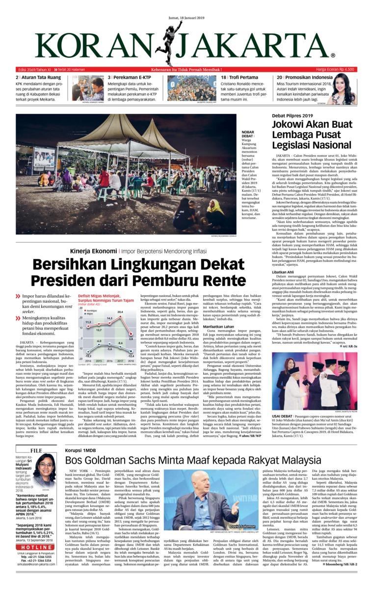 Koran Digital Koran Jakarta 18 Januari 2019