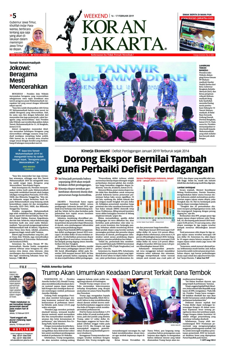 Koran Jakarta Digital Newspaper 16 February 2019