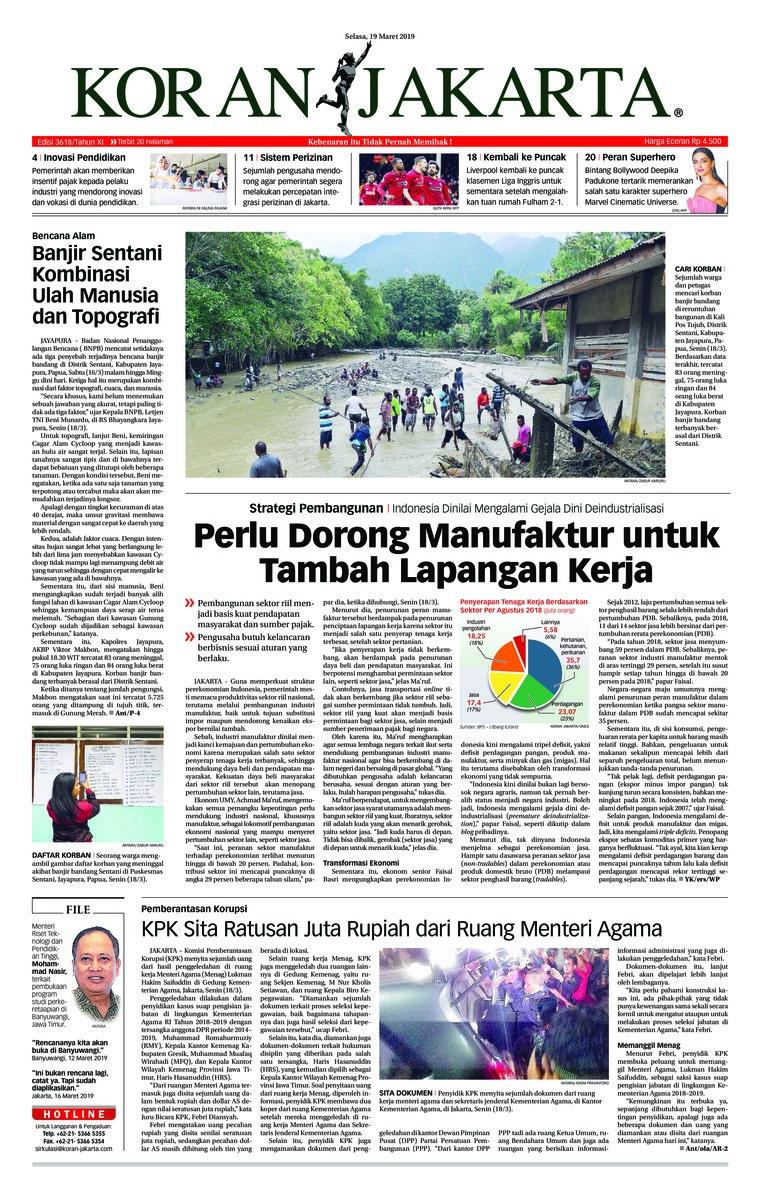 Koran Digital Koran Jakarta 19 Maret 2019