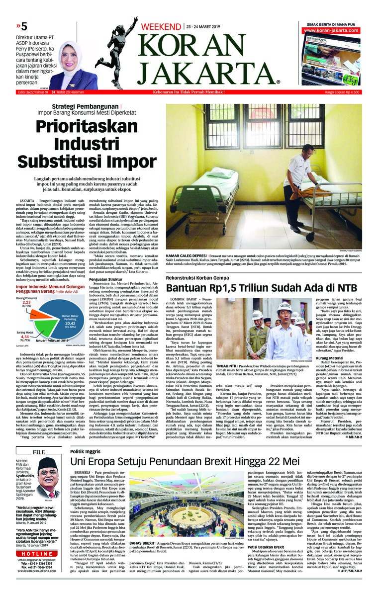Koran Digital Koran Jakarta 23 Maret 2019