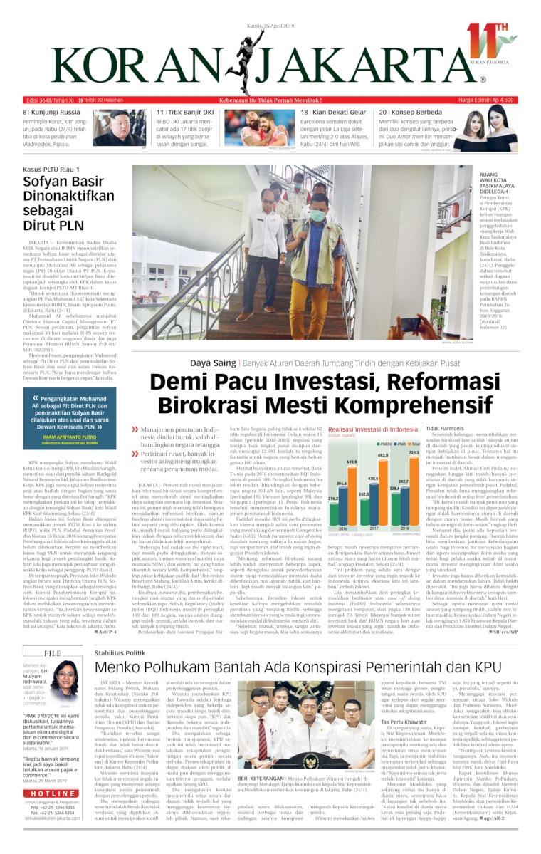 Koran Digital Koran Jakarta 25 April 2019