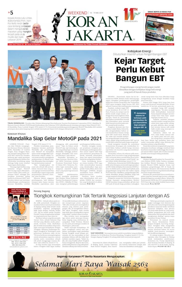 Koran Digital Koran Jakarta 18 Mei 2019