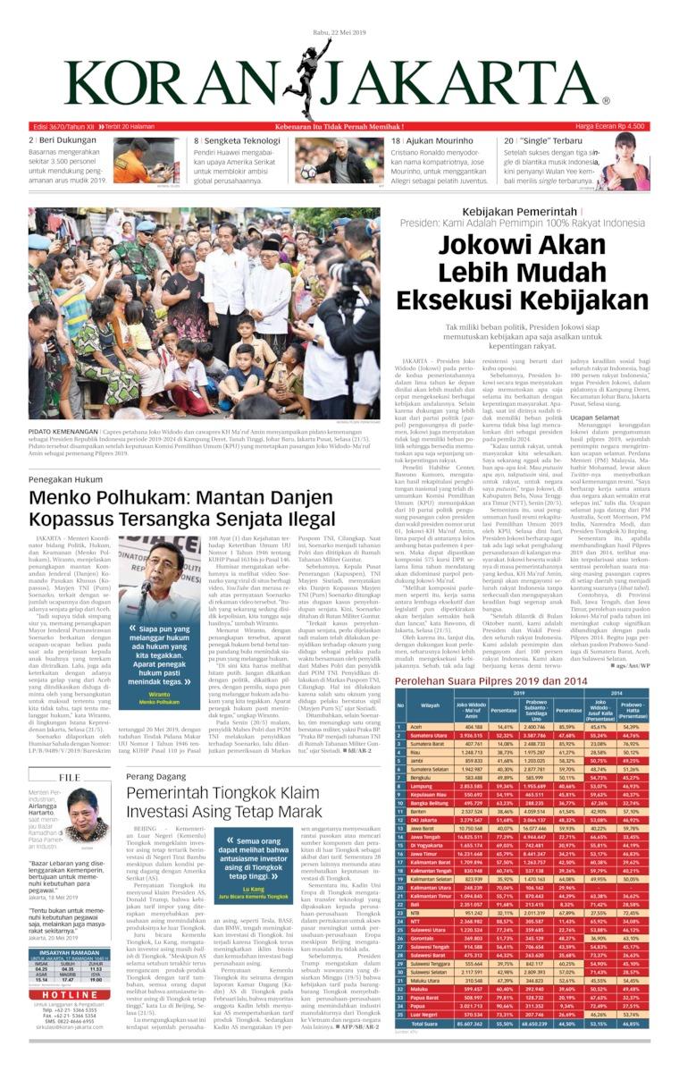 Koran Digital Koran Jakarta 22 Mei 2019