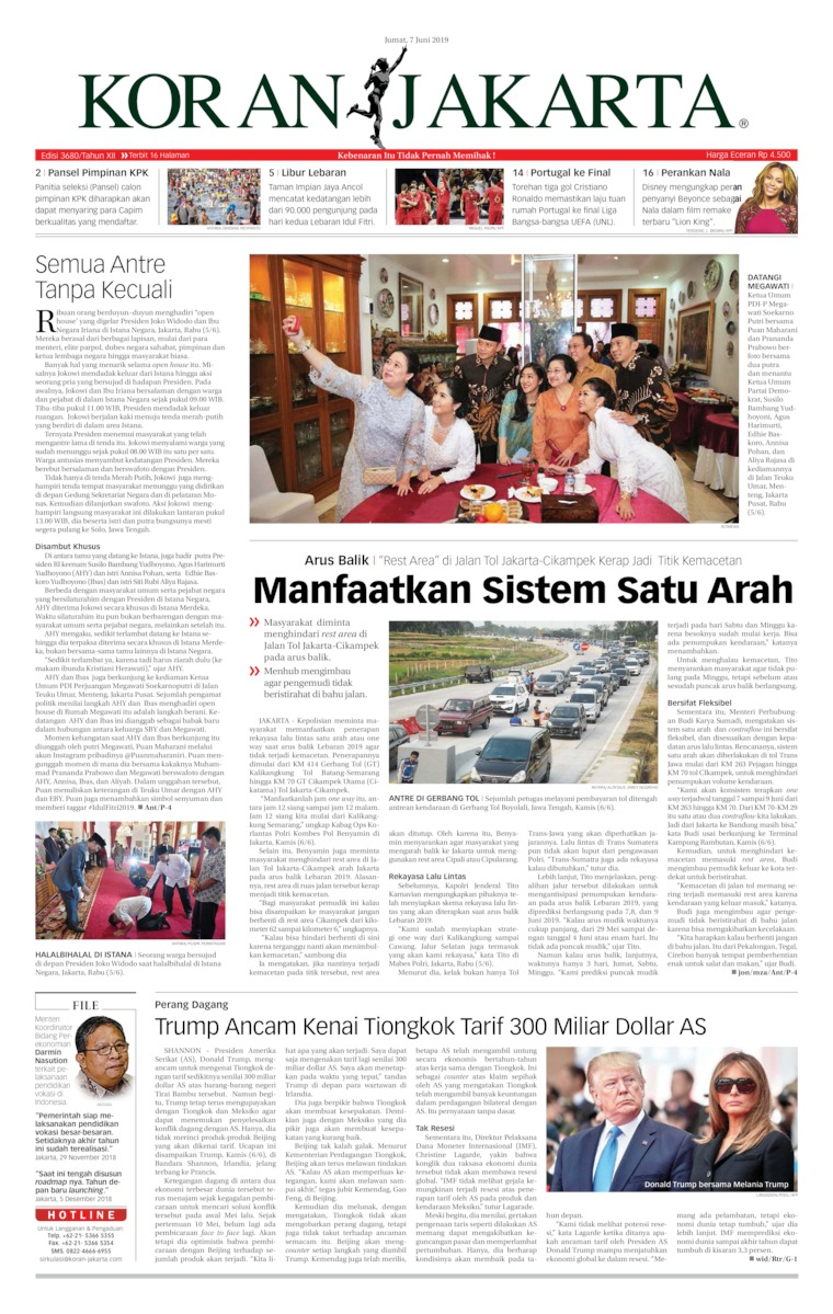 Koran Jakarta Digital Newspaper 07 June 2019
