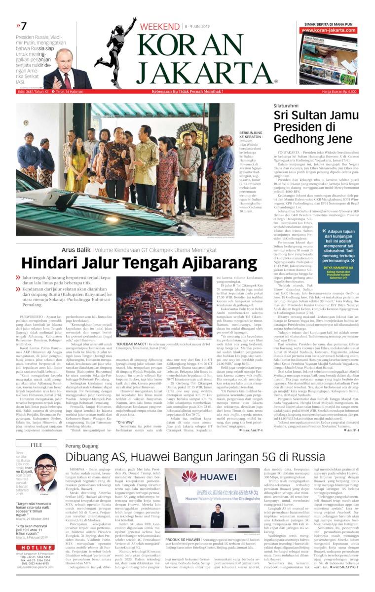 Koran Digital Koran Jakarta 08 Juni 2019