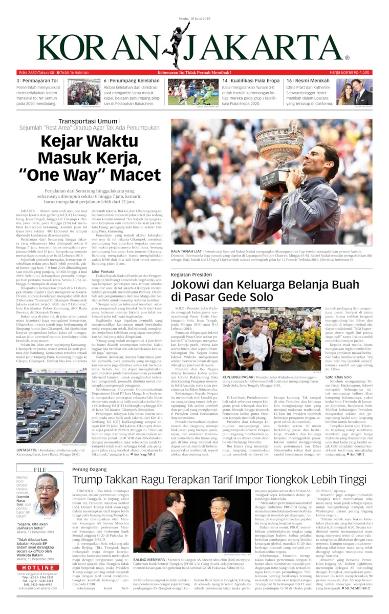 Koran Digital Koran Jakarta 10 Juni 2019