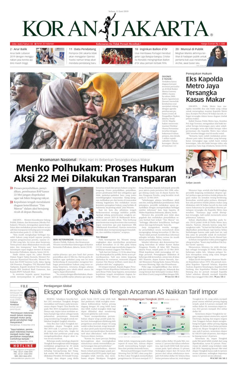 Koran Digital Koran Jakarta 11 Juni 2019