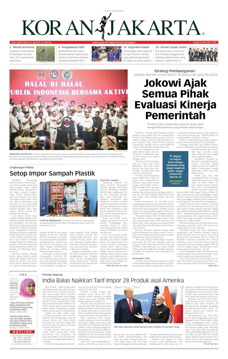 Koran Digital Koran Jakarta 17 Juni 2019