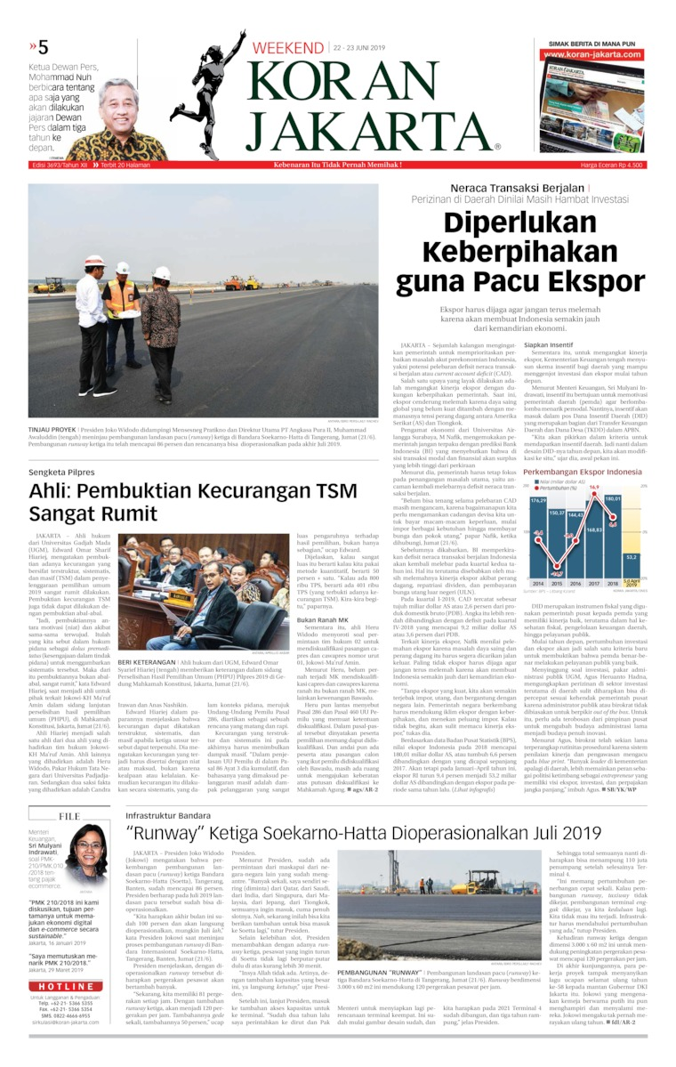 Koran Digital Koran Jakarta 22 Juni 2019