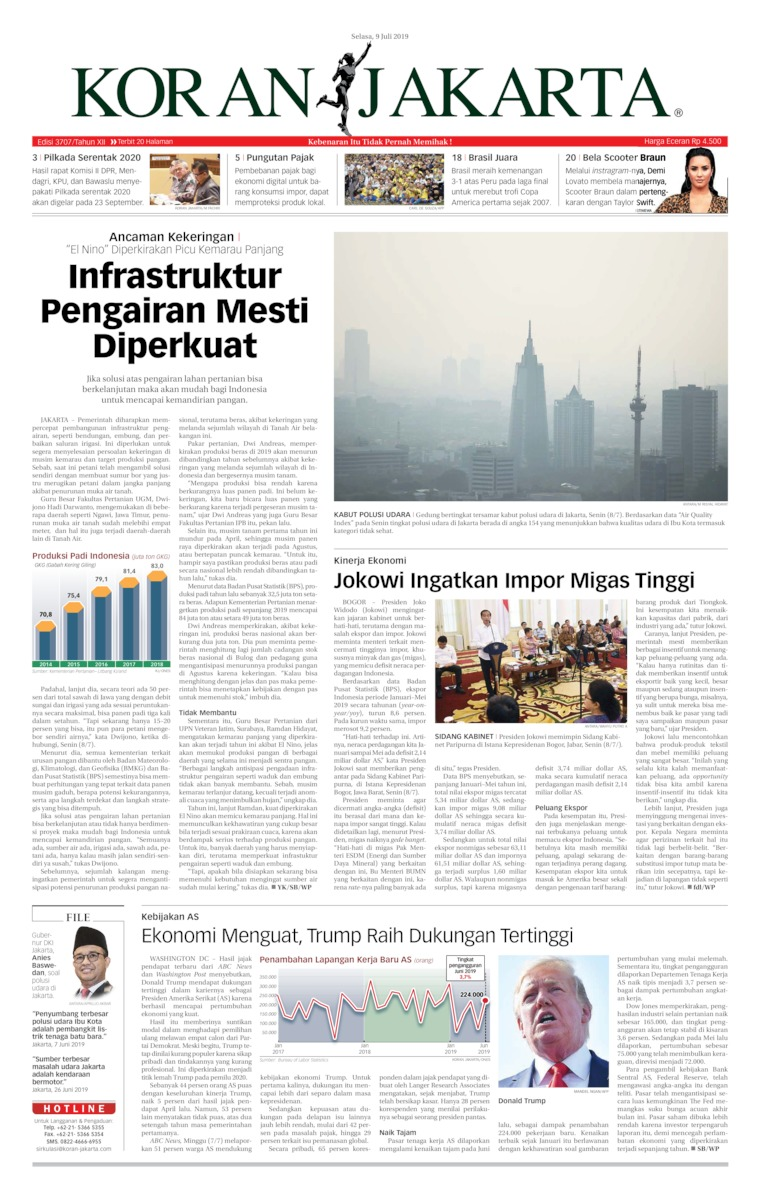 Koran Jakarta Digital Newspaper 09 July 2019