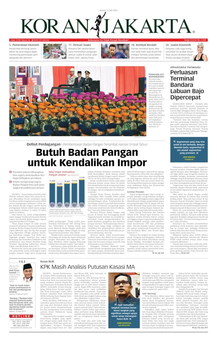 Koran Digital Koran Jakarta 11 Juli 2019