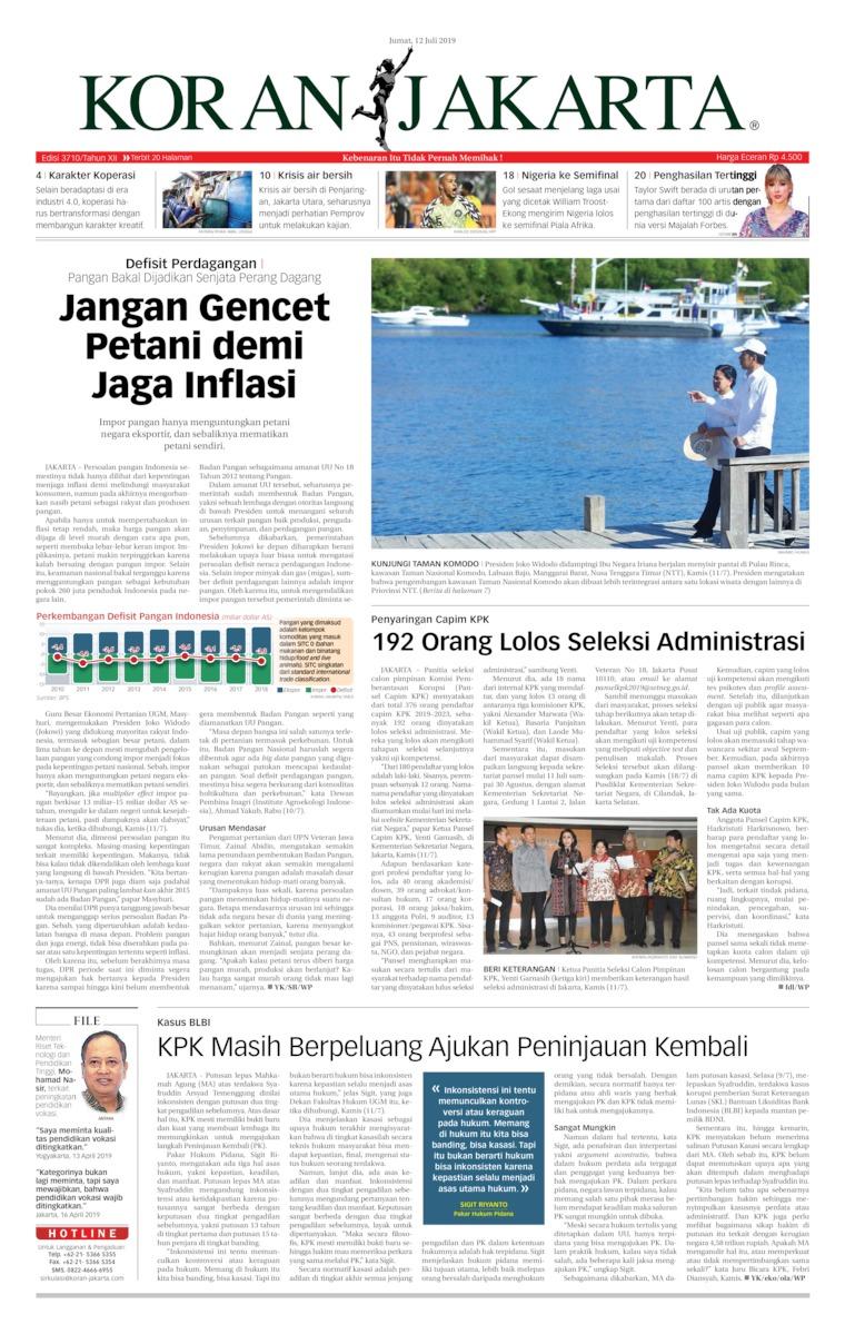 Koran Digital Koran Jakarta 12 Juli 2019