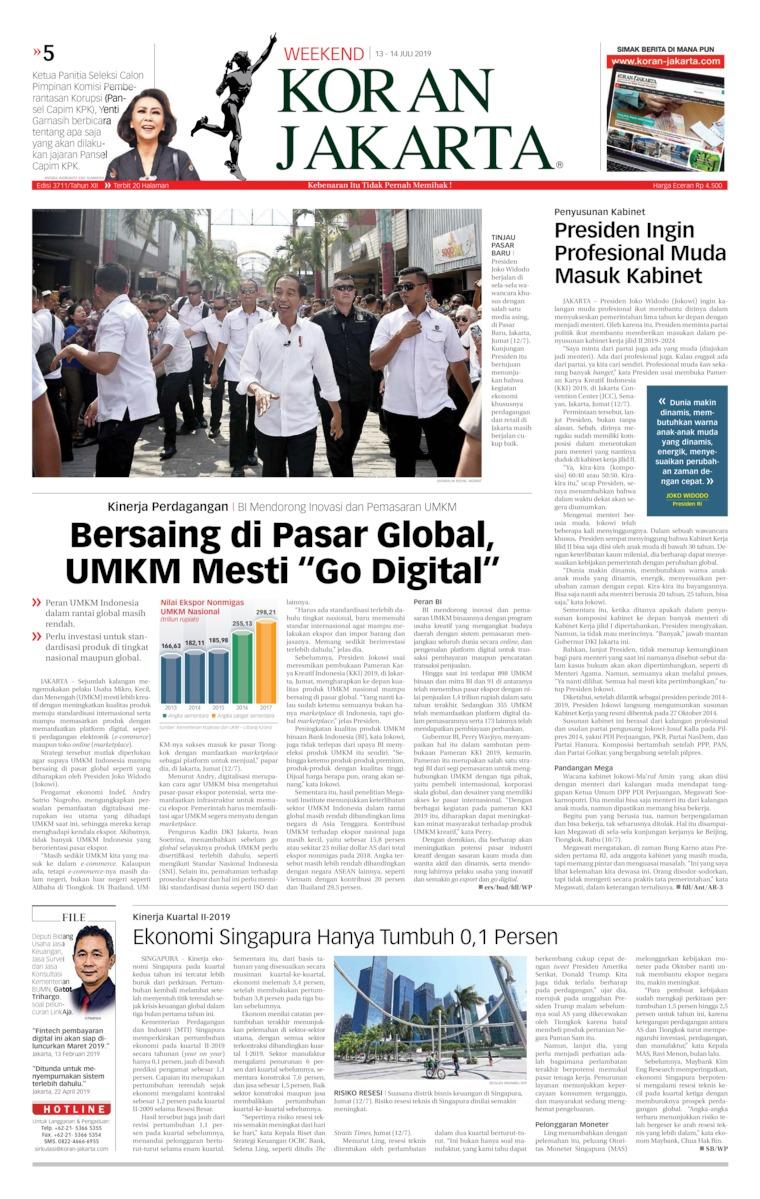 Koran Jakarta Digital Newspaper 13 July 2019