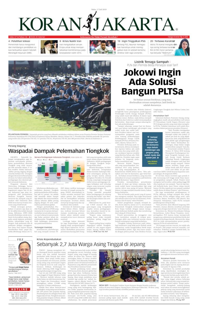 Koran Digital Koran Jakarta 17 Juli 2019
