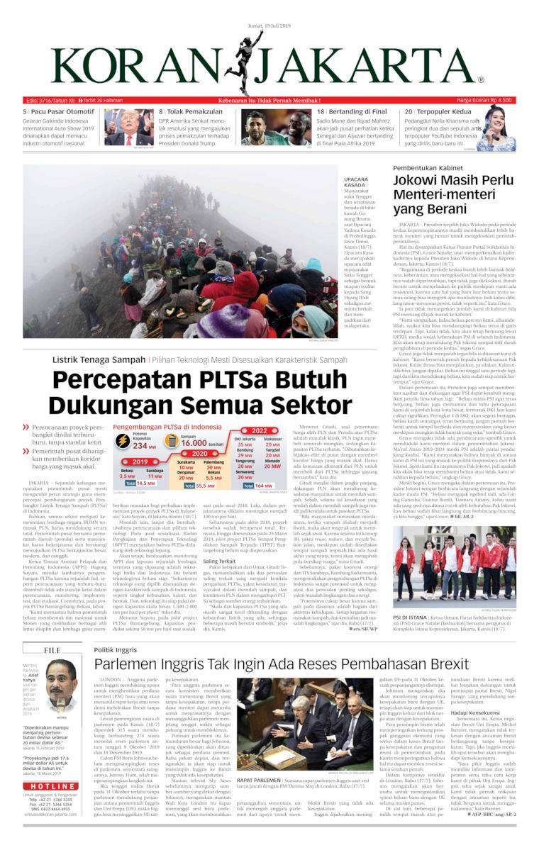 Koran Digital Koran Jakarta 19 Juli 2019