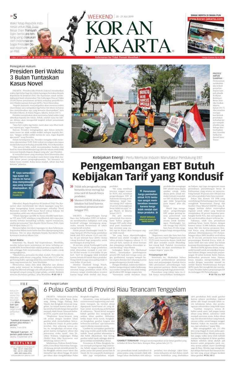 Koran Digital Koran Jakarta 20 Juli 2019