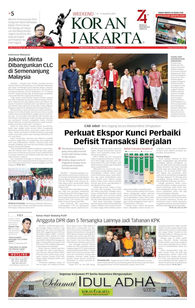Koran Digital Koran Jakarta 10 Agustus 2019