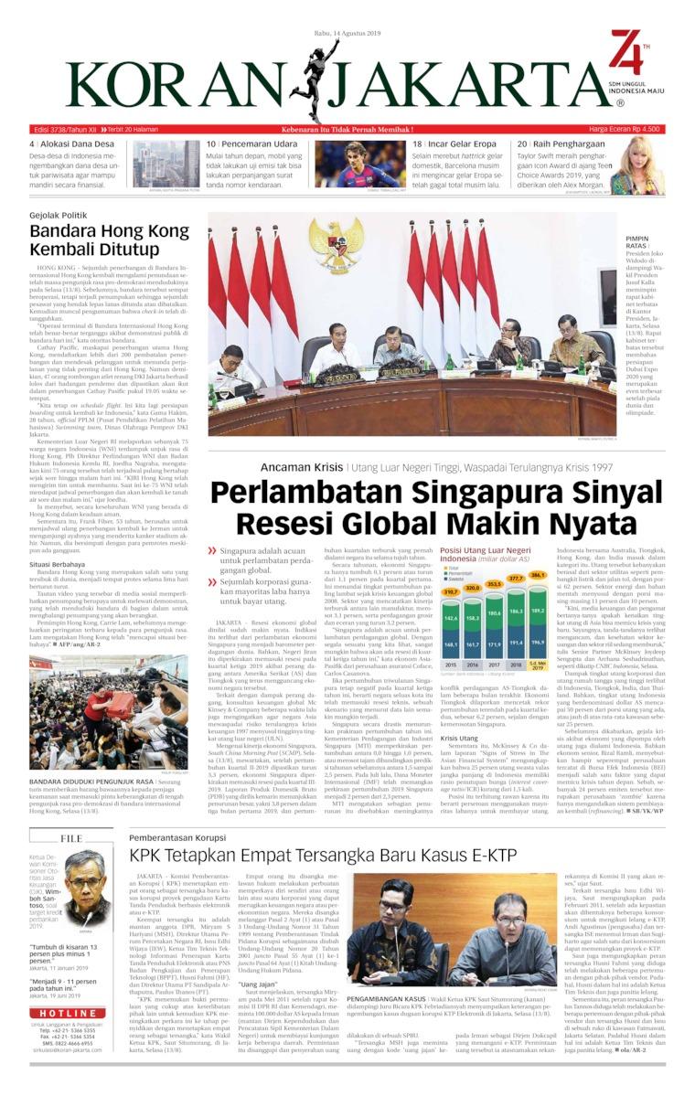 Koran Digital Koran Jakarta 14 Agustus 2019