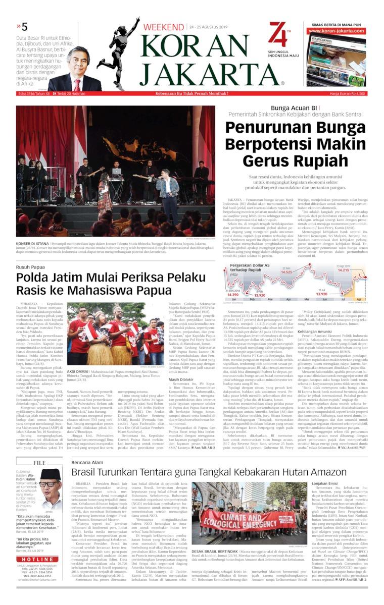 Koran Digital Koran Jakarta 24 Agustus 2019