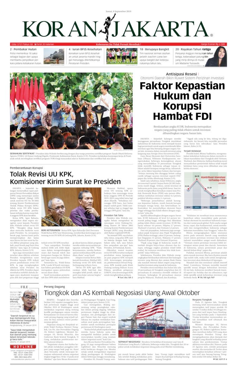 Koran Digital Koran Jakarta 06 September 2019